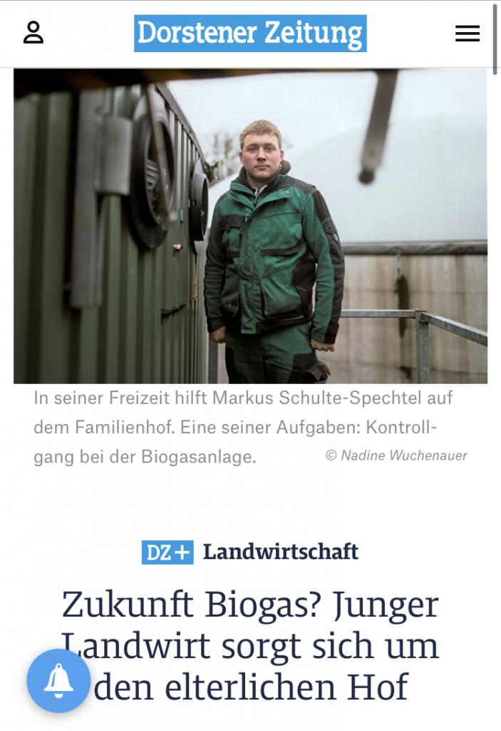 Dorstener Zeitung: Junger Landwirt